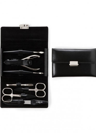 Niegeloh Diabolo L Leather Manicure Set Black