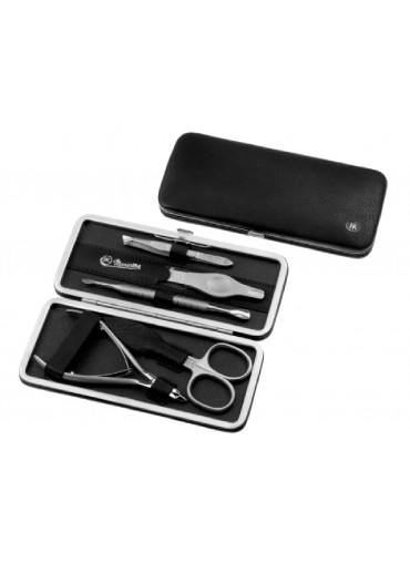 Hans Kniebes Framed Leather Manicure Set