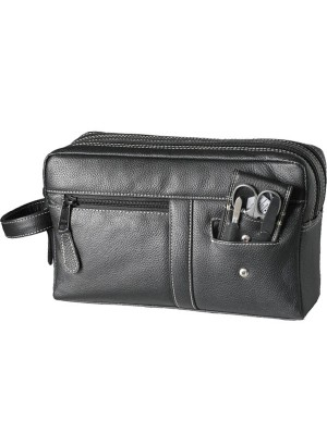 Sonnenschein Bavaria Leather Toiletry Bag With Nail Set
