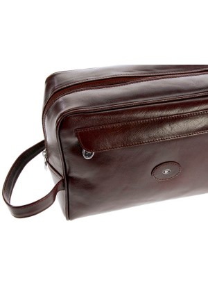 Hans Kniebes Frankfurt Leather Toiletry Bag