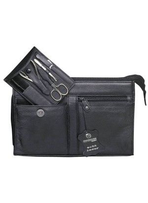 Sonnenschein Hamburg Leather Toiletry Bag With Nail Set
