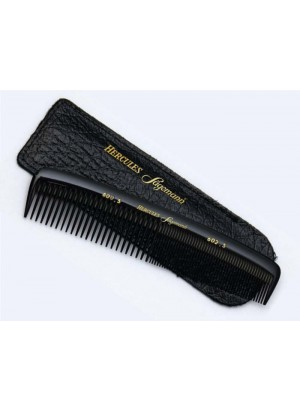 Hercules Sagemann Gents Hair Comb In Leather Pouch 6""