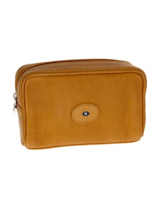 Hans Kniebes Dresden Leather Toiletry Bag