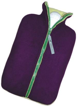 Hugo Frosch Eco Hot Water Bottle Purple-Lemon 2 L