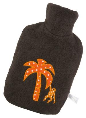 Hugo Frosch Eco Hot Water Bottle Luxury Fleece Cover Palm 0.8 L