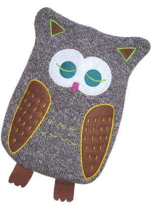 Hugo Frosch Eco Hot Water Bottle Luxury Knitted Cover Owl 0.8 L