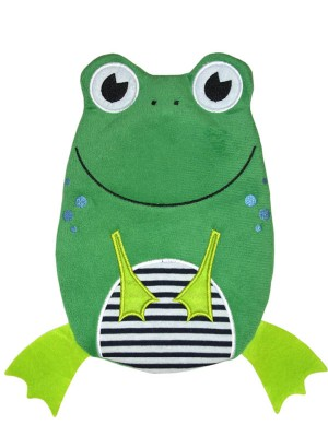 Hugo Frosch Hot Water Bottle Eco Junior Comfort Frog 0.8 L