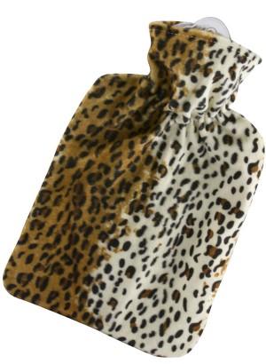 Hugo Frosch Hot Water Bottle Leopard Fleece Cover 1.8 L