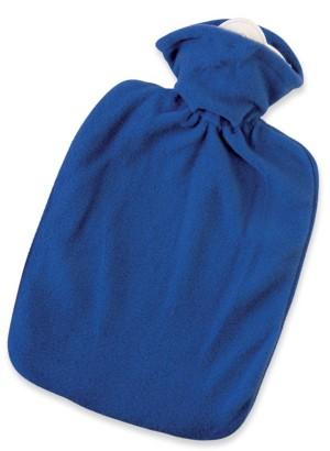 Hugo Frosch Hot Water Bottle Luxury Blue Fleece Cover 1.8 L