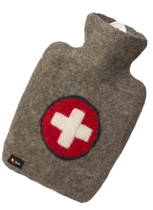 Hugo Frosch Germany - High quality Hot Water Bottle Luxury Felt Cover Cross 1.8 L (0703)