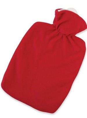 Hugo Frosch Hot Water Bottle Luxury Red Fleece Cover 1.8 L