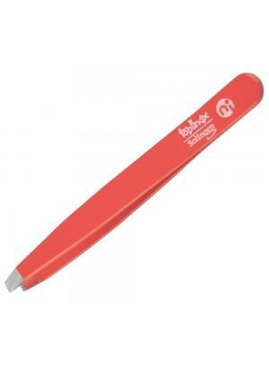 Niegeloh Straight Tweezers Topinox Red