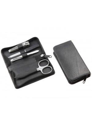 Sonnenschein Travel Leather Manicure Set 4 Pcs