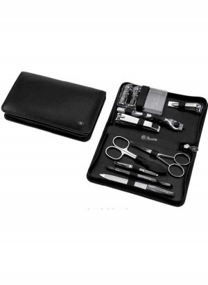 Hans Kniebes Men's Shaving & Grooming Leather Kit