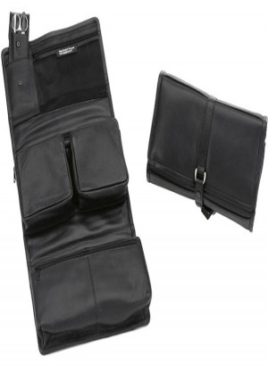 Sonnenschein Stuttgart Hanging Leather Toiletry Bag With Nail Set
